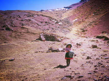 Andean mountain child we encountered on our trail, the only person outside of our group that we saw all day
