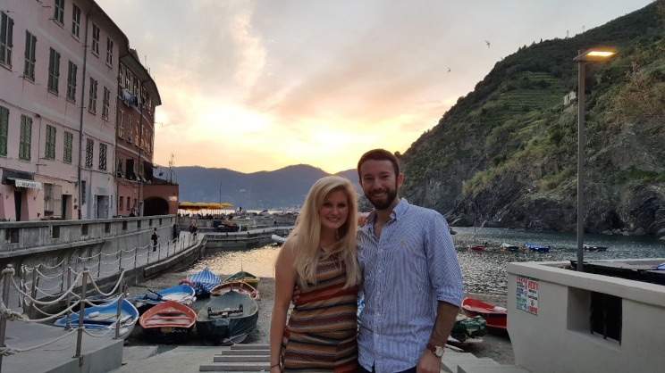 Sunset in the Vernazza piazza