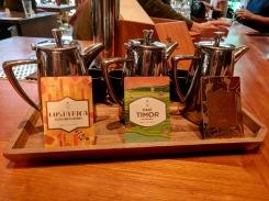 Origins coffee flight at Starbucks Reserve Roastery