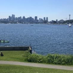 Seattle skyline view from Gas Works Park