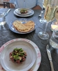 Bateau's beef tartare and champagne cocktail