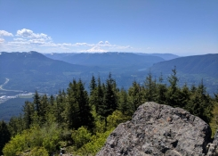 Mt. Rainier and Snoqualamine Valley from Mount Si