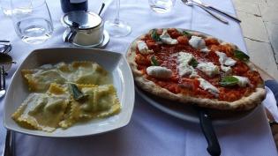 Alla Speranza pizza and ravioli