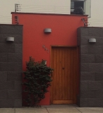 Interesting, modern design mixed in walking through Lima