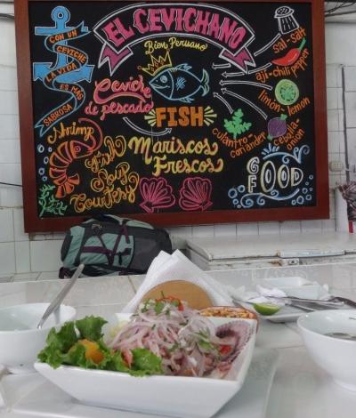 El Cevichano - first taste of ceviche in Peru