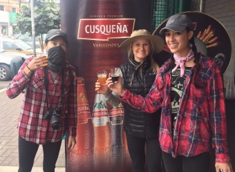 Cusquena tasting at Surquillo Mercado No. 2