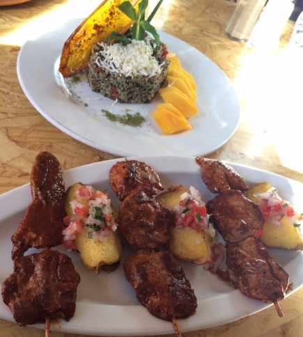 Nuna Raymi - alpaca skewers and quinoa salad with mango