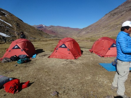 Our campsite, the coldest place I've ever slept