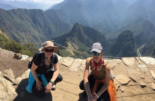 Waynu Picchu and the Citadel from atop Machu Picchu Montana