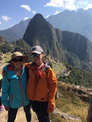 Waynu Picchu and the Citadel behind us