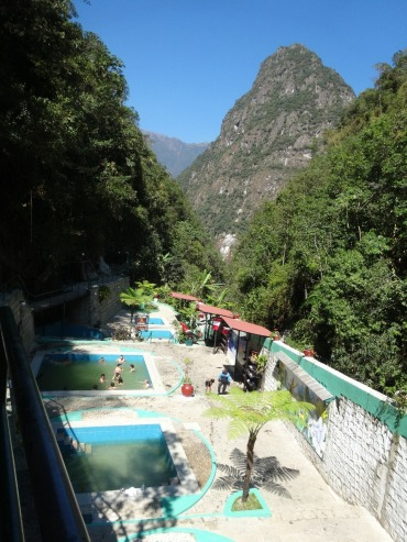 "Hot springs that are the namesake of ""Aguas Calientes"" town"