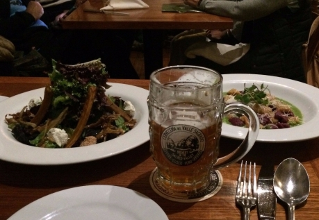 Organic Greens dinner in Cusco with Sacred Valley Brewing Co. IPA