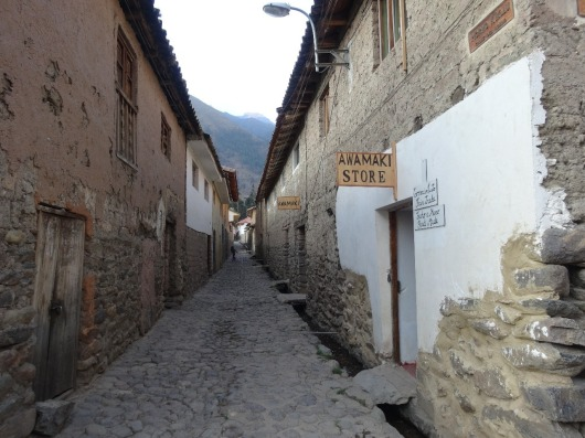 Quaint alleyway in Ollantaytambo, most of the town looks like this