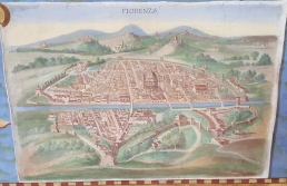 Detailed map of Florence