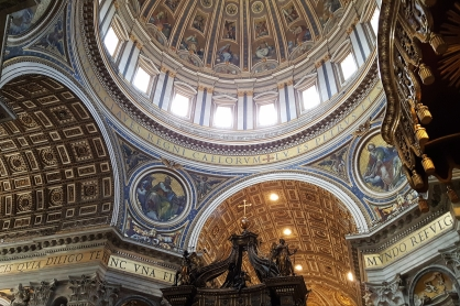 Opulence of St. Peter's Basilica, truly stunning