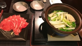 Hotel Hakuba Hifumi dinner fifth course shabu shabu