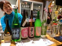SAKESTAND owner providing tasting notes on each sake