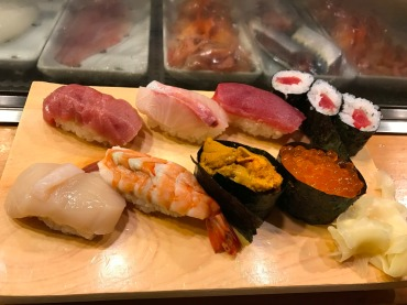 Sushi at Shunkashutou in Shibuya