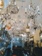 Gorgeous antique chandeliers at a shop on King St