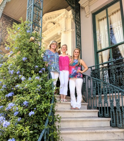 On the steps of John Rutledge House before heading to dinner at Magnolias