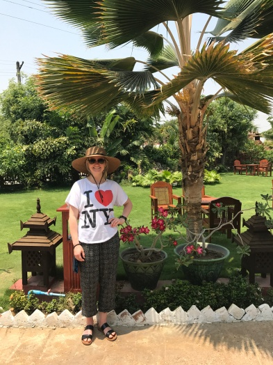 Being a total tourist on the grounds at Hotel Yadanarbon