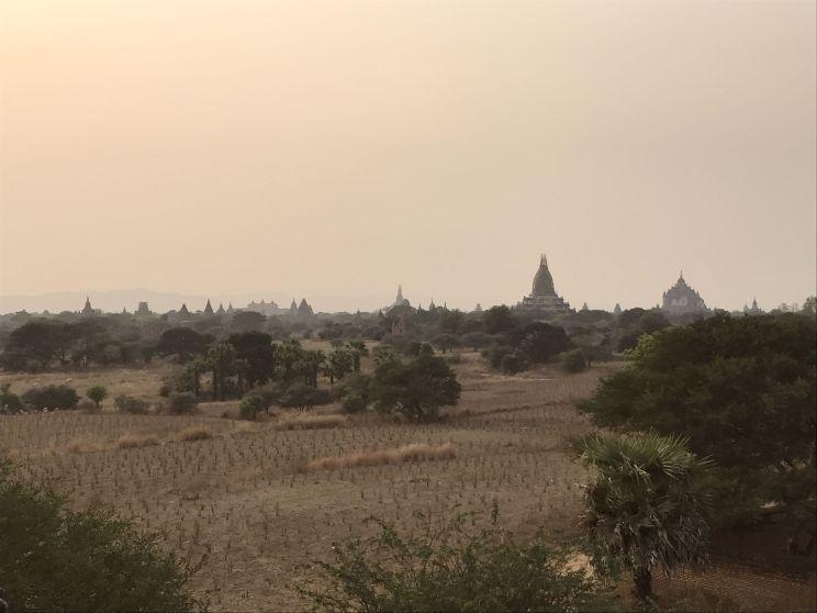 Sunset over the pagodas
