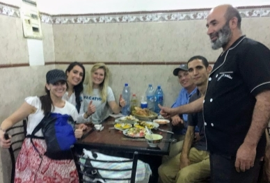 Dinner with Zohair in Chefchaouen, the chef came out for a photo
