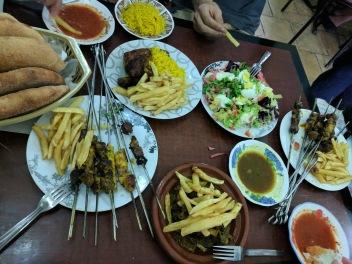 First Moroccan dinner, Chefchaouen