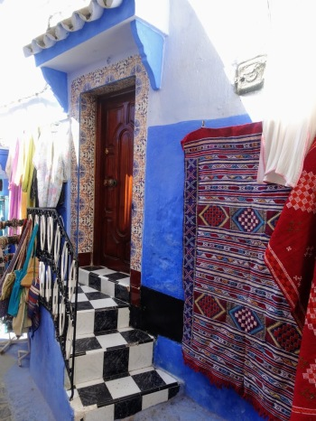 Chefcahouen blue city doorway
