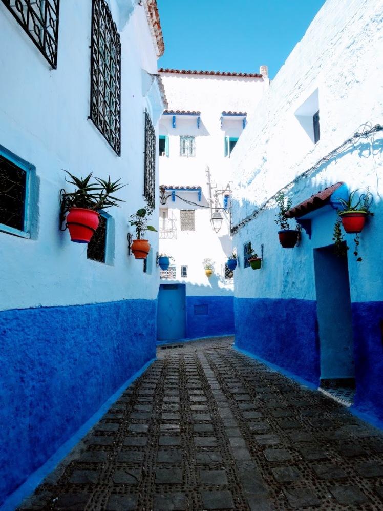 Chefchaouen blue city doorway