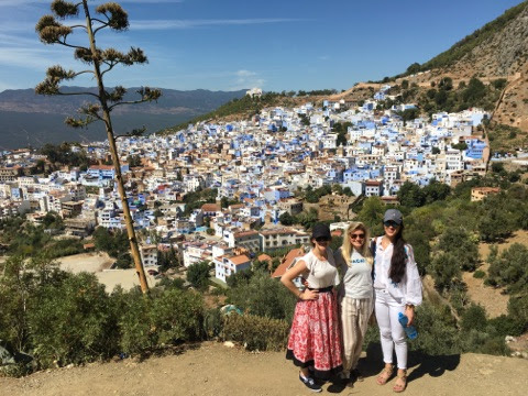 View from hike up to Spanish mosque in Chefchaouen