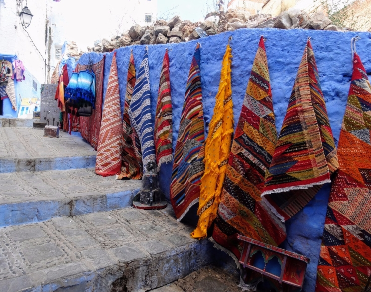 Chefchaouen Rugs on display