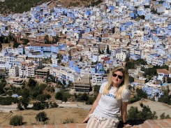 View of Chefchaouen medina from the Spanish Mosque