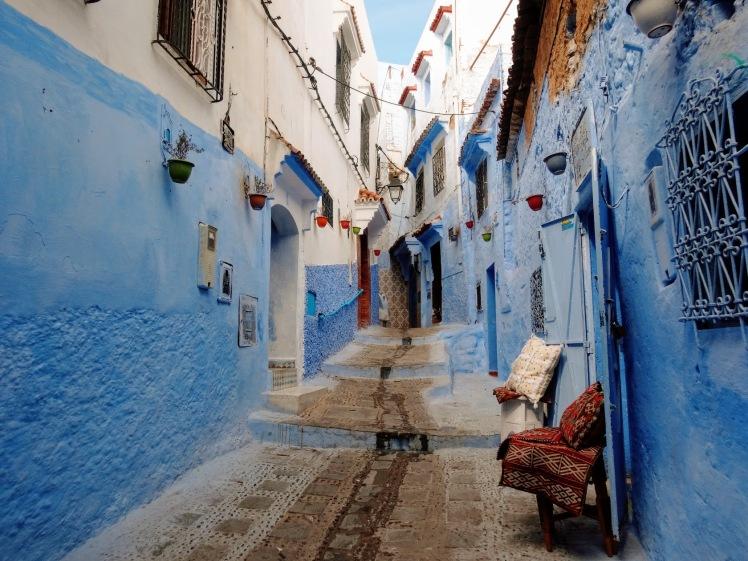 Chefchaouen blue city walkway