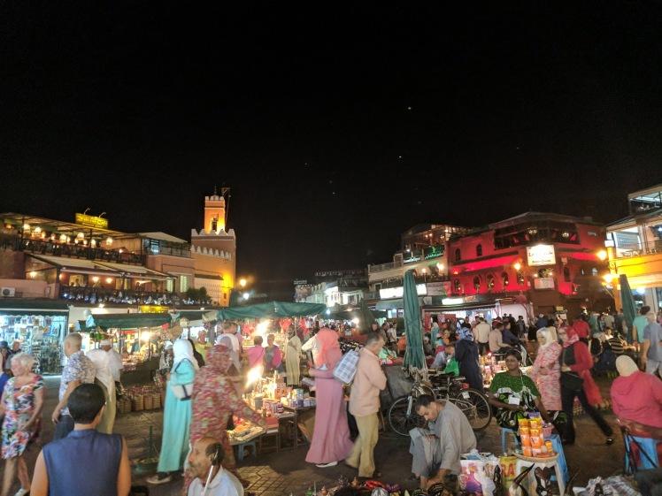 Jemma el-Fnaa Big Square in Marrakech, Morocco