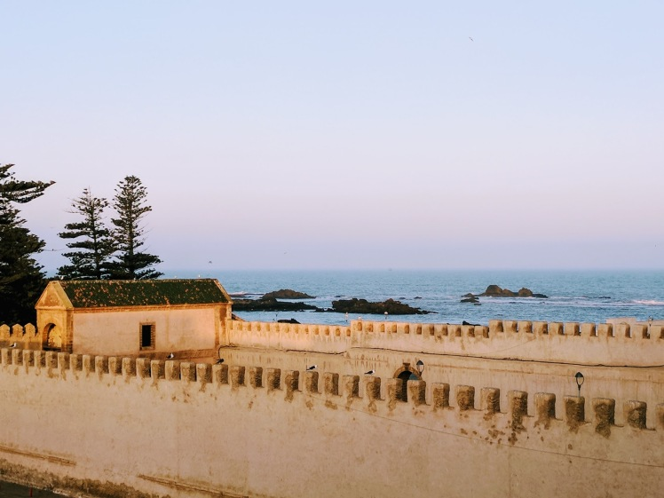 Essaouira Morocco beach from Madada Mogador rooftop