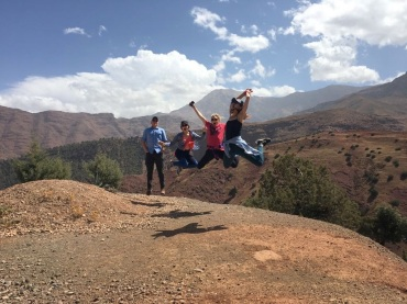 High Atlas Mountains jumping pic