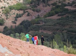 Local boys taking it easy after a game of soccer in the High Atlas Mountains outside Marrakech, Morocco
