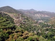 Berber village in High Atlas Mountains in Morocco