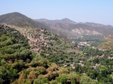 Berber village in High Atlas Mountains in Morocco