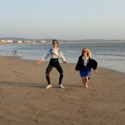 Essaouira Morocco jumping on the beach