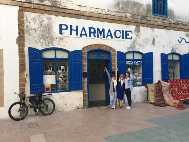 Pharmacists at a Pharmacie in Essaouira Morocco