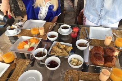 Breakfast at Riad Adore in Marrakech Morocco