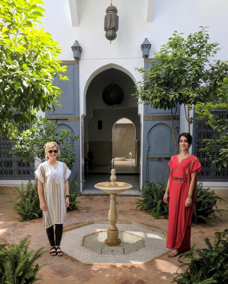 Riad Adore courtyard Marrakech, Morocco