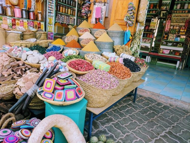 Marrakech, Morocco spice square