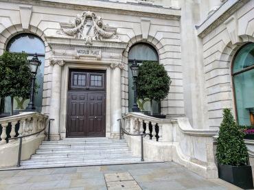 Door stoop in Westminster London