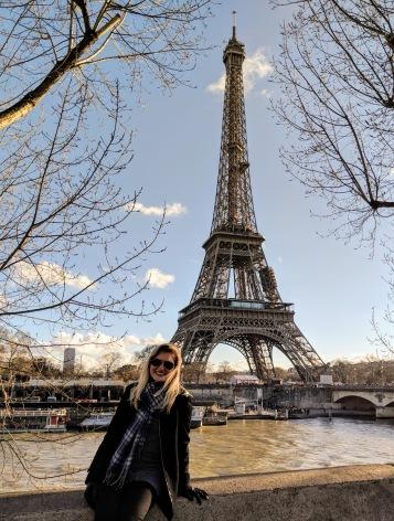 Amanda at Eiffel Tower