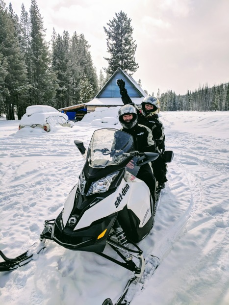 Snow Mobile outside of McCall Idaho