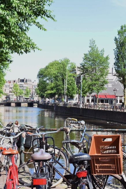 Amsterdam - canal and bikes