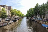 Amsterdam - canal and boats